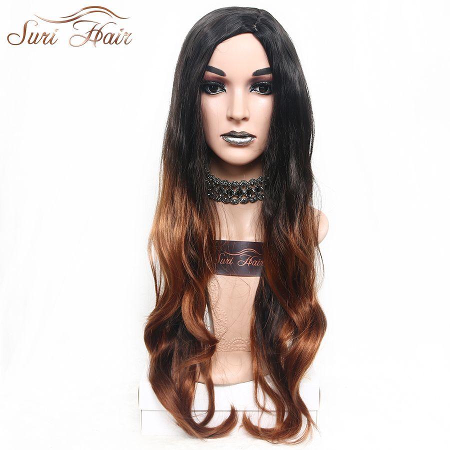 Suri hair inch long wavy hair ombre wigs for black women tb