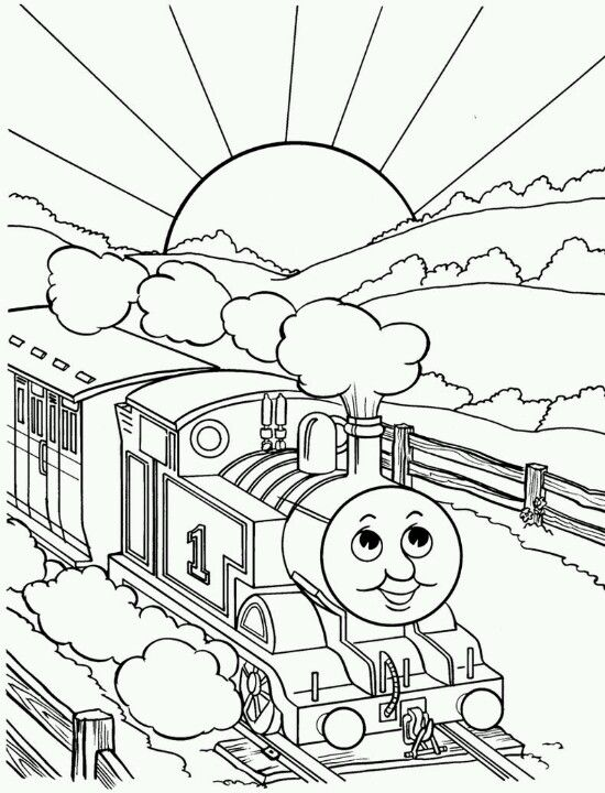 Thomas the train coloring page | Coloring pages | Pinterest ...
