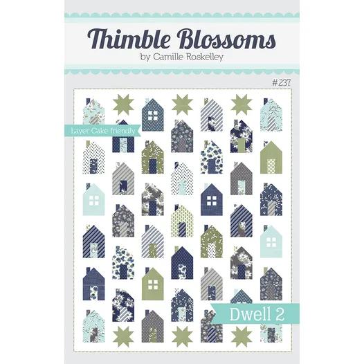 Dwell 2 Downloadable Pdf Quilt Pattern Thimble Blossoms Quilt Patterns Modern Quilt Patterns Quilt Kits