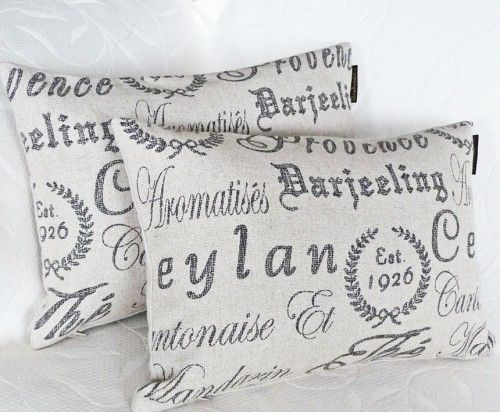 French Script Pillows Get The Horchow Look Script Pillows