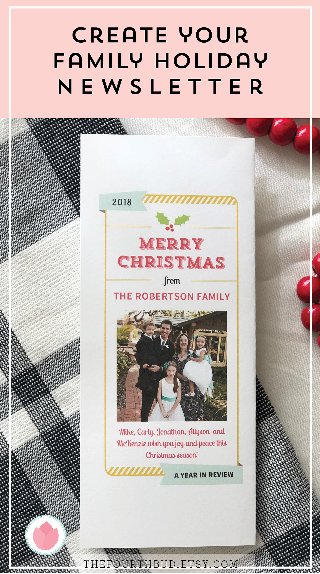 Christmas Newsletter Template In Pdf For Print Year In Review