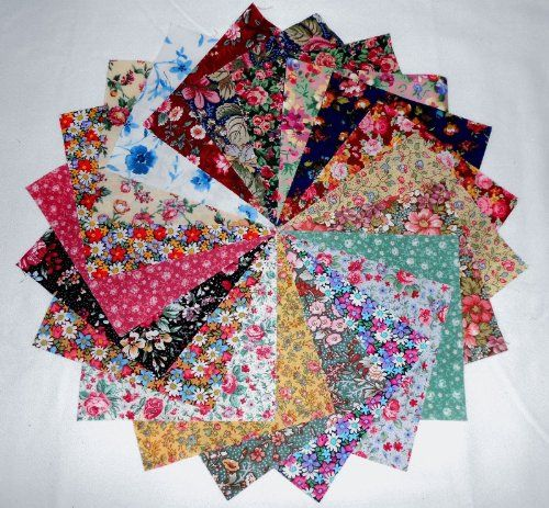 "80 5/"" Christmas #1 Quilting Fabric Squares Beautiful//80 !!20  different prints"