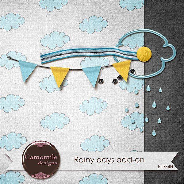 Rainy Days tiny kit freebie from Camomile Designs
