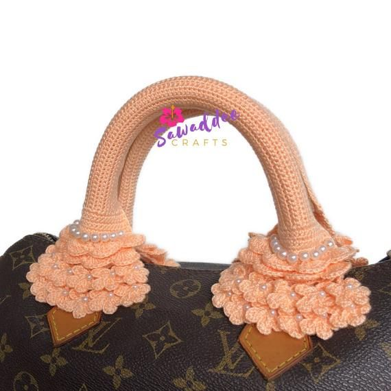 18e7c459ffe4 Free Shipping  Handmade Crochet Bag Handle Cover Protector for LV Louis  Vuitton Speedy 25-30-35