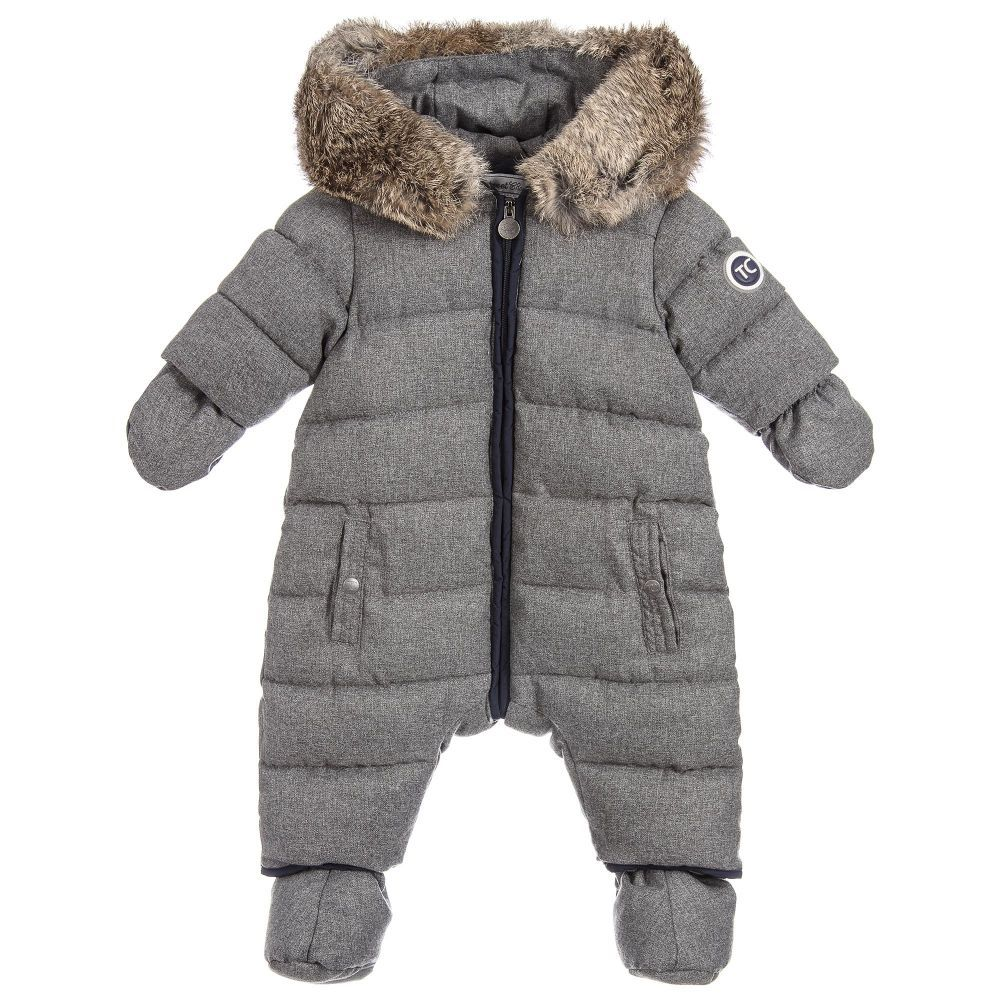 f4340fc9d Baby Boys Grey Snowsuit for Boy by Tartine et Chocolat. Discover the ...