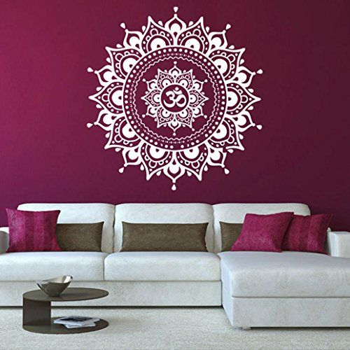 299 mandala flower wall sticker lotusflower diy stylish removable indian decal bedroom living room wall - Diy Entfernbarer Backsplash