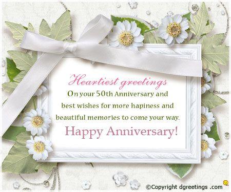 50TH ANNIVERSARY CONGRATS 450x375 Anniversary CardsAnniversary IdeasEcardsE