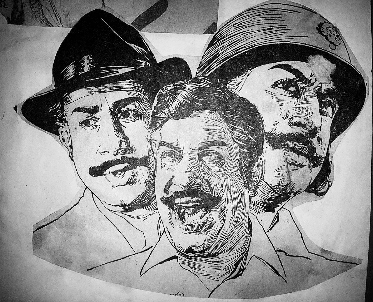 Tamil Hero Shivaji Ganeshan - 1970s drawing