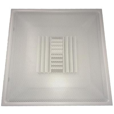 Speedi Grille 24 In X 24 In Drop Ceiling T Bar Perforated Face