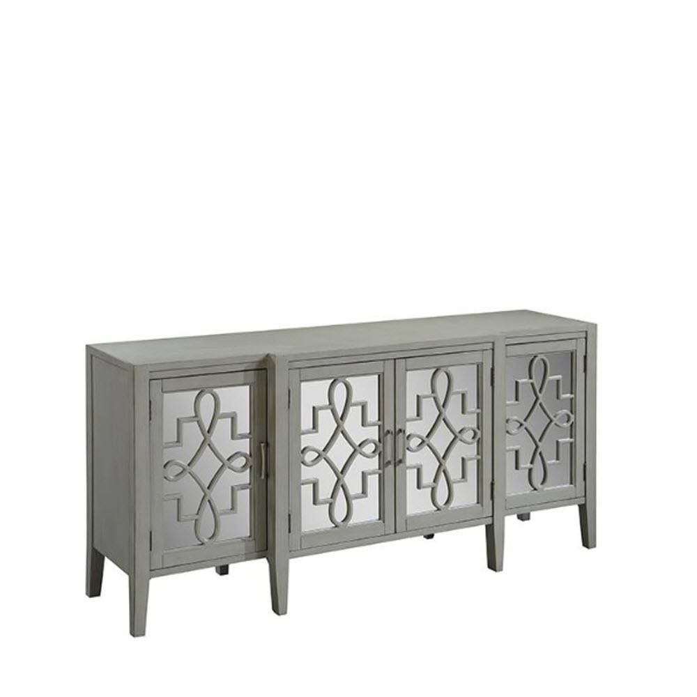 Home Decorators Collection Clover Black Mirrored Cabinet 9671800210 The Depot