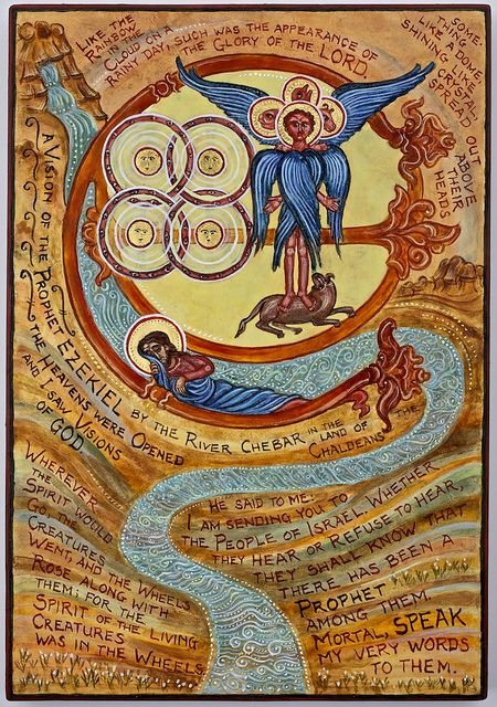 A Vision of the prophet Ezekiel | Biblical art, Byzantine art, Ezekiel
