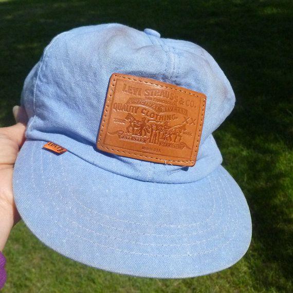 d89407b4e9a Vintage Levi s Denim Cap Orange Tab Leather Levi s Patch Snap Back ...