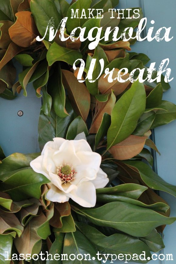 Magnolia Wreath Like The One On Fixer Upper For The Home