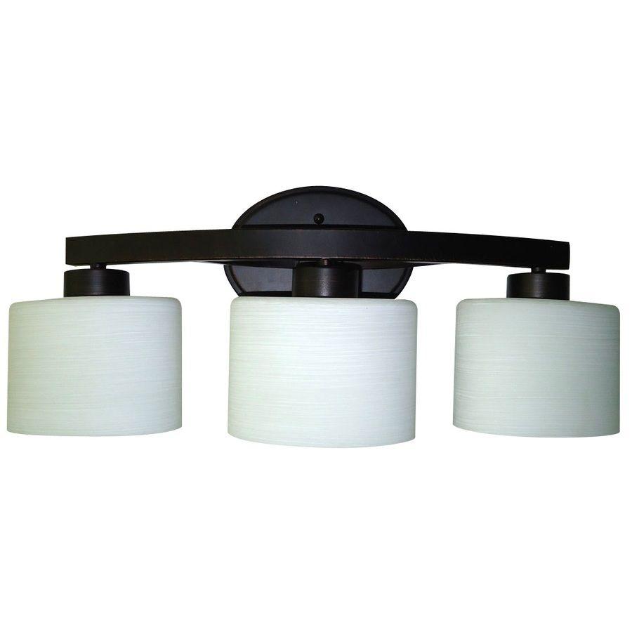 allen roth 3-Light Merington Aged Bronze Standard Bathroom ...
