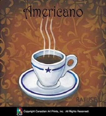 Another Great Print For Kitchen Coffee Print Americano Custom Framed Art