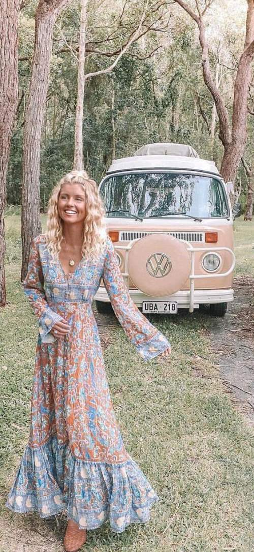 95+ Spring Boho Outfits that exudes carefree elegance & are perfect spring/summer dresses for 2020 - Hike n Dip