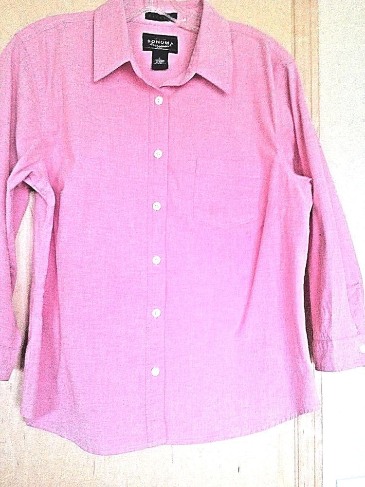 f5e19501c80 Genuine SONOMA jean company Woman stretch shirtsize L Cotton 97%Lycra 3%.   fashion  clothing  shoes  accessories  womensclothing  tops (ebay link)