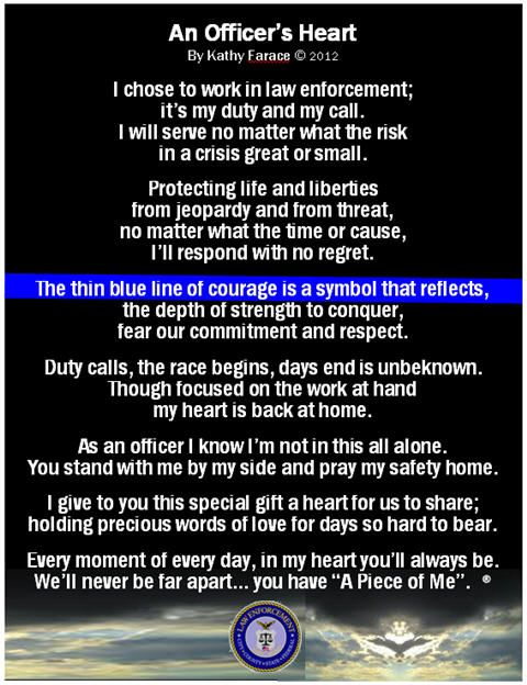 An Officer\'s Heart Law Enforcement My Family is nothing but ...