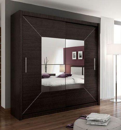 Brand New Modern Bedroom Wardrobe Sliding Door Boston with Mirror Arthauss // & Brand New Modern Bedroom Wardrobe Sliding Door Boston with Mirror ...