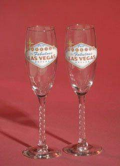 Las Vegas Wedding Toasting Glasses Supply
