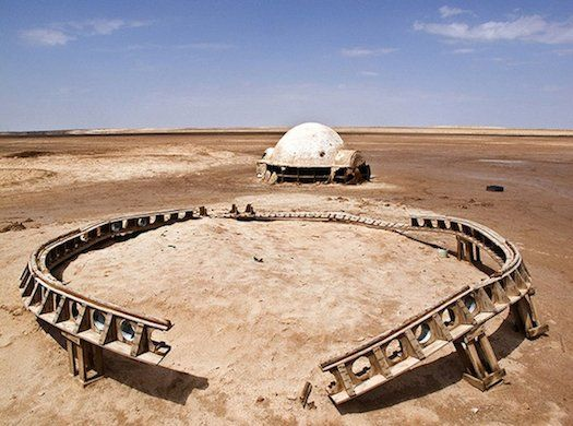 Star Wars Abandoned Photographer R di Martino tracked down abandoned sets from Star Wars in Tunisia using Google Earth, then photographed them. It looks kinda lonely out there without R2-D2 beeping around. But still, major nerd points for this project. R di Martino via DesignTAXI