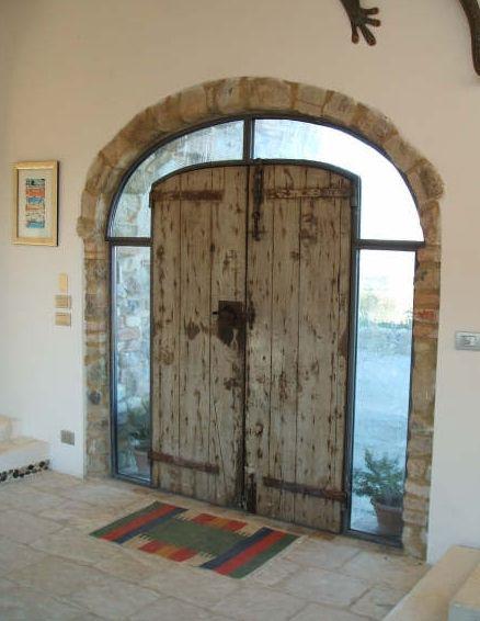 Porta ferro battuto e vetro cerca con google casa - Porte ad arco ...