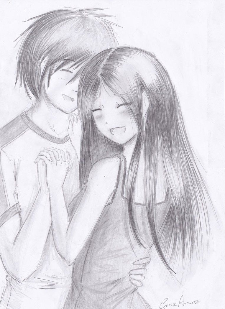 Couple by ARC501 Cute couple sketches, Sketches, Couple