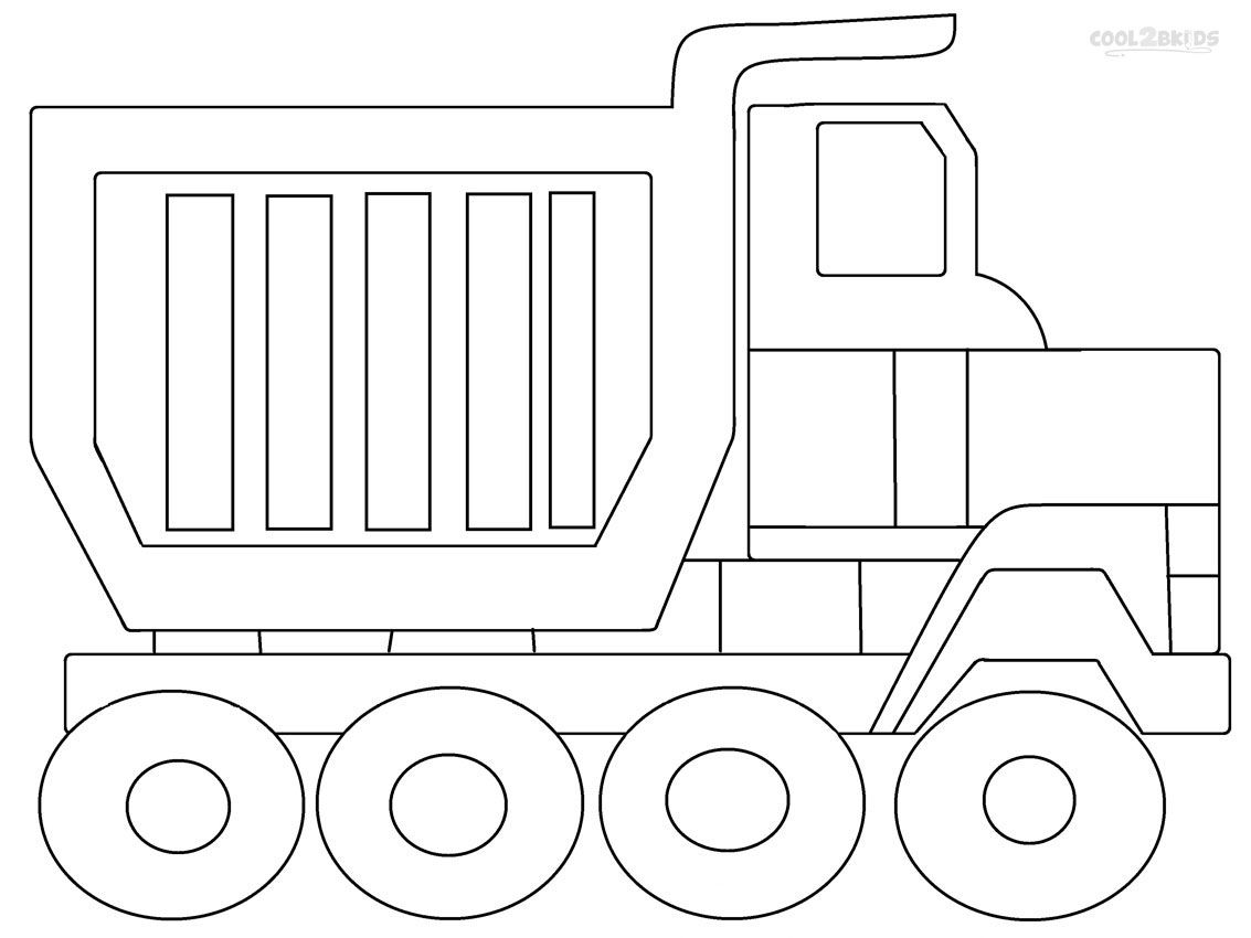 Printable Dump Truck Coloring Pages For Kids | Cool2bKids ...