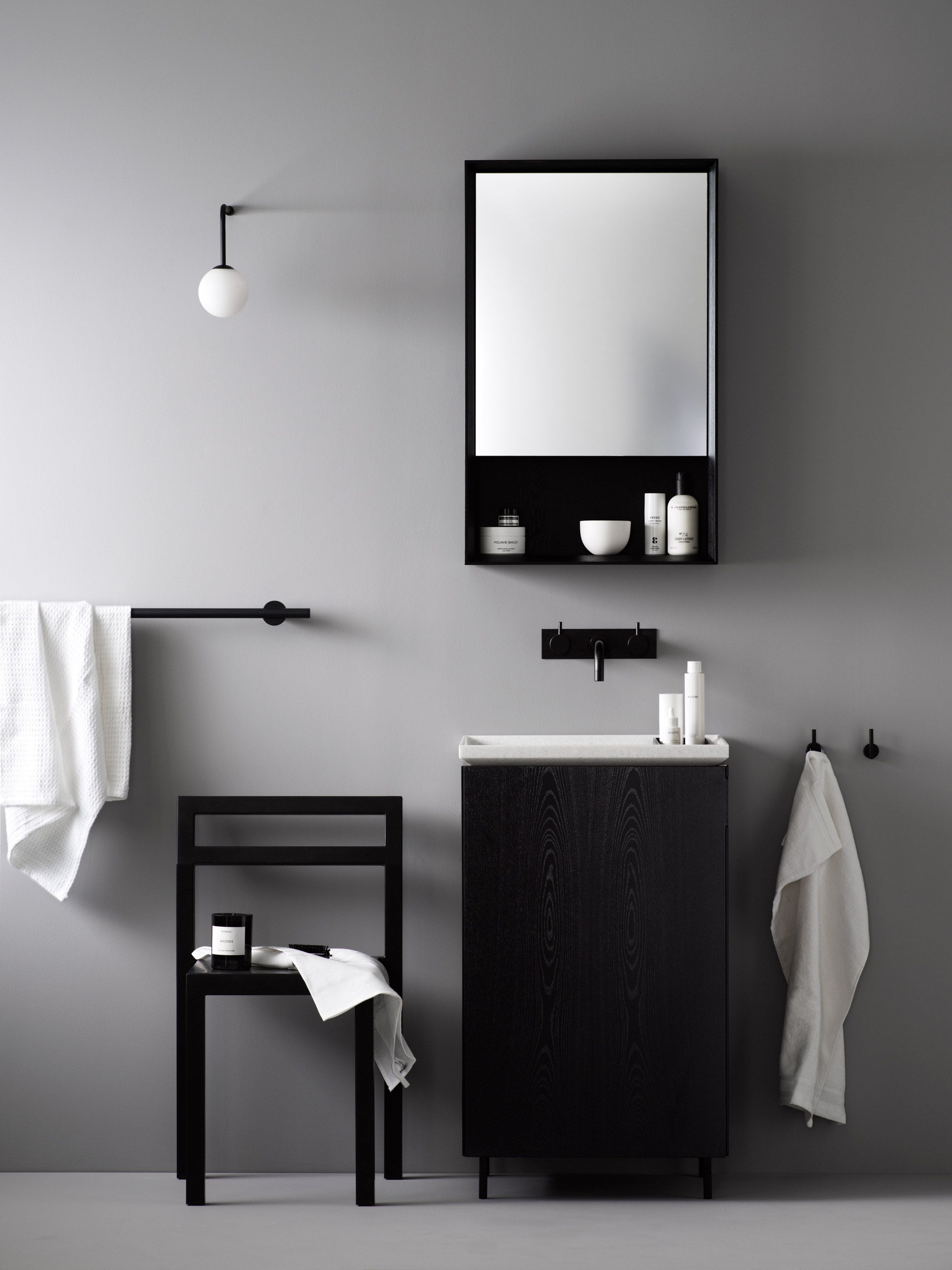 Norm Architects Has Created A Collection Of Minimal Bathroom Cabinets And Accessories For Korean Brand Lagom