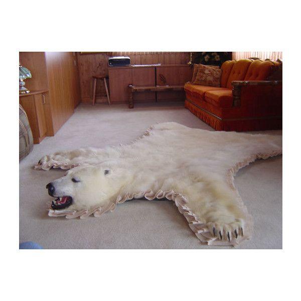 Unique Polar Bear Skin Rugs With Head