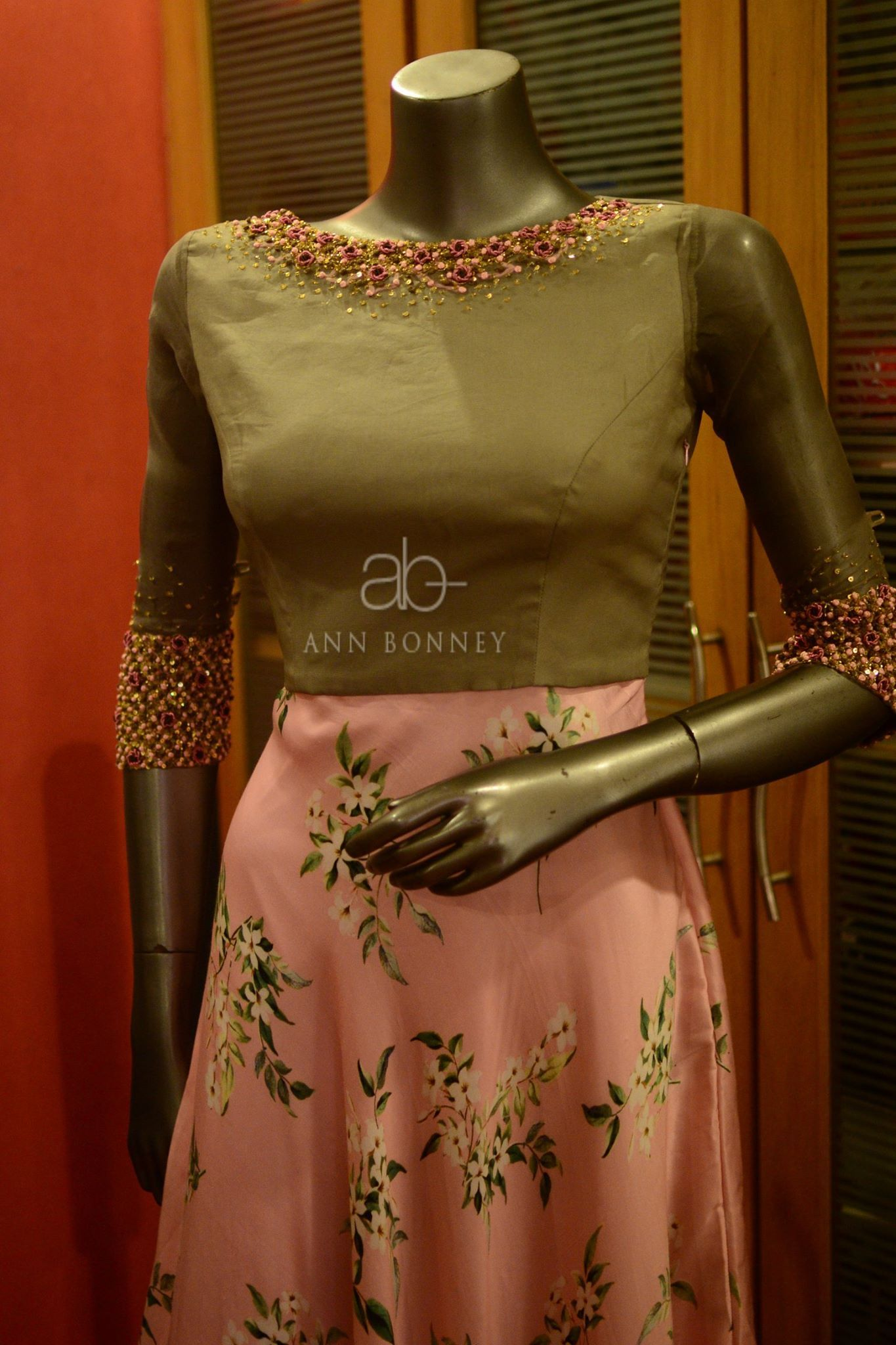 CODE:ABF502. Beautiful pink color dress from Ann Bonney.