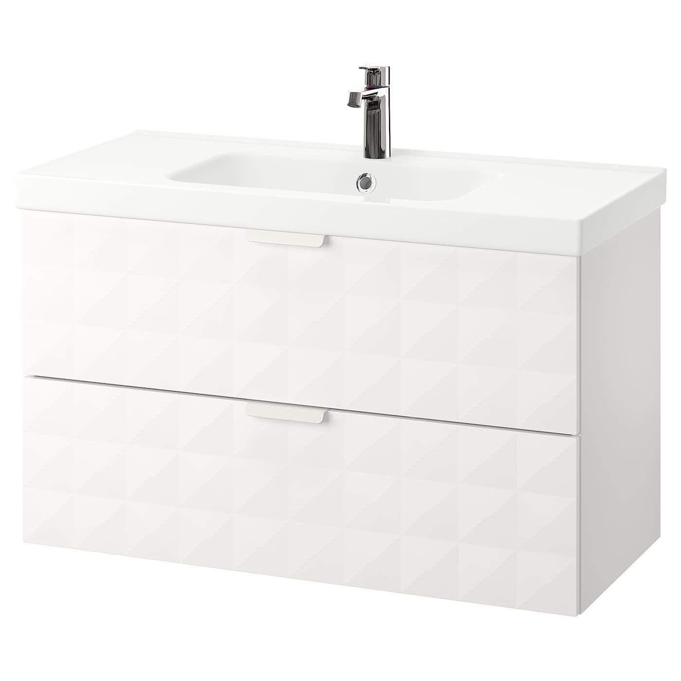 Godmorgon Odensvik Meuble Pour Lavabo 2 Tiroirs Resjon Blanc Ikea Meuble Lavabo Lavabo Tiroir