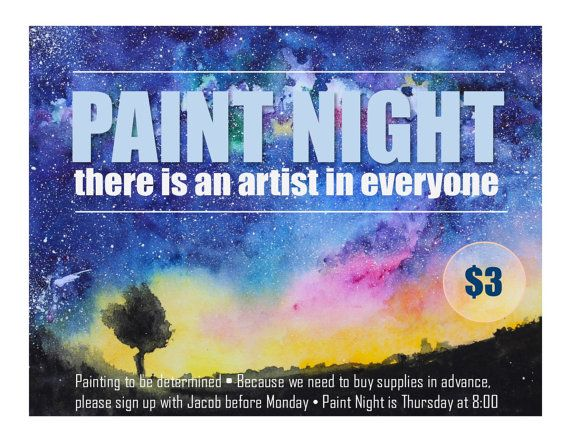 Paint Night Program Advertisement  Resident Assistants Find Your