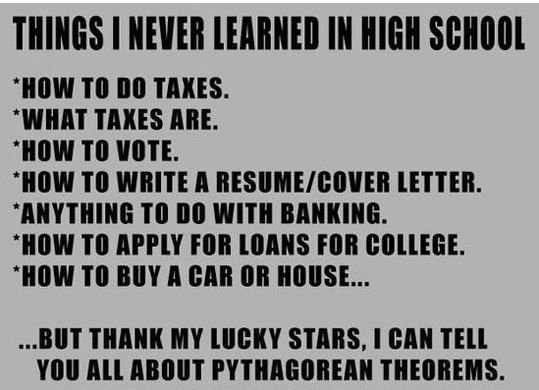 Some Of The Things I Never Learned In High School