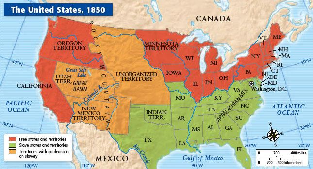 Map Of United States Cc Cycle Pinterest Mcgraw Hill - Us map 1850