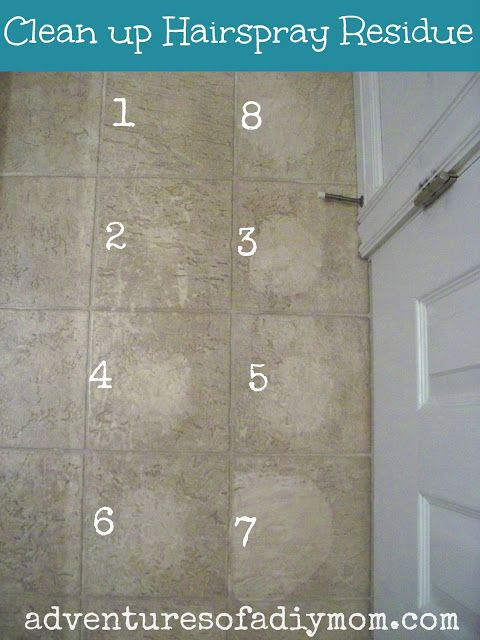 How To Remove Hairspray Residue From Floor Tips Pinterest - Clean tile floors without residue