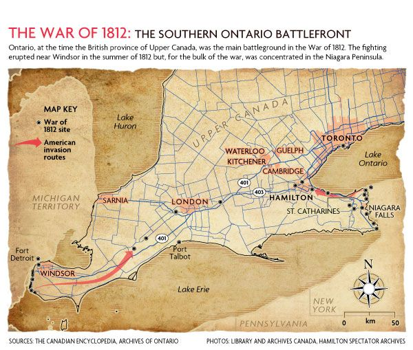 War Of 1812 Interactive Map Thinglink Interactive Image Canada