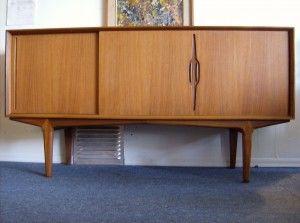 1960s Danish Credenza : Extraordinary s danish teak credenza incredible design with