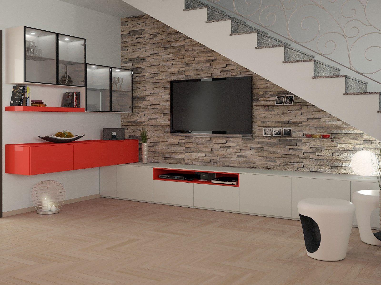 Progettazione 3D Soggiorno/Salotto - render | Interior Design ...