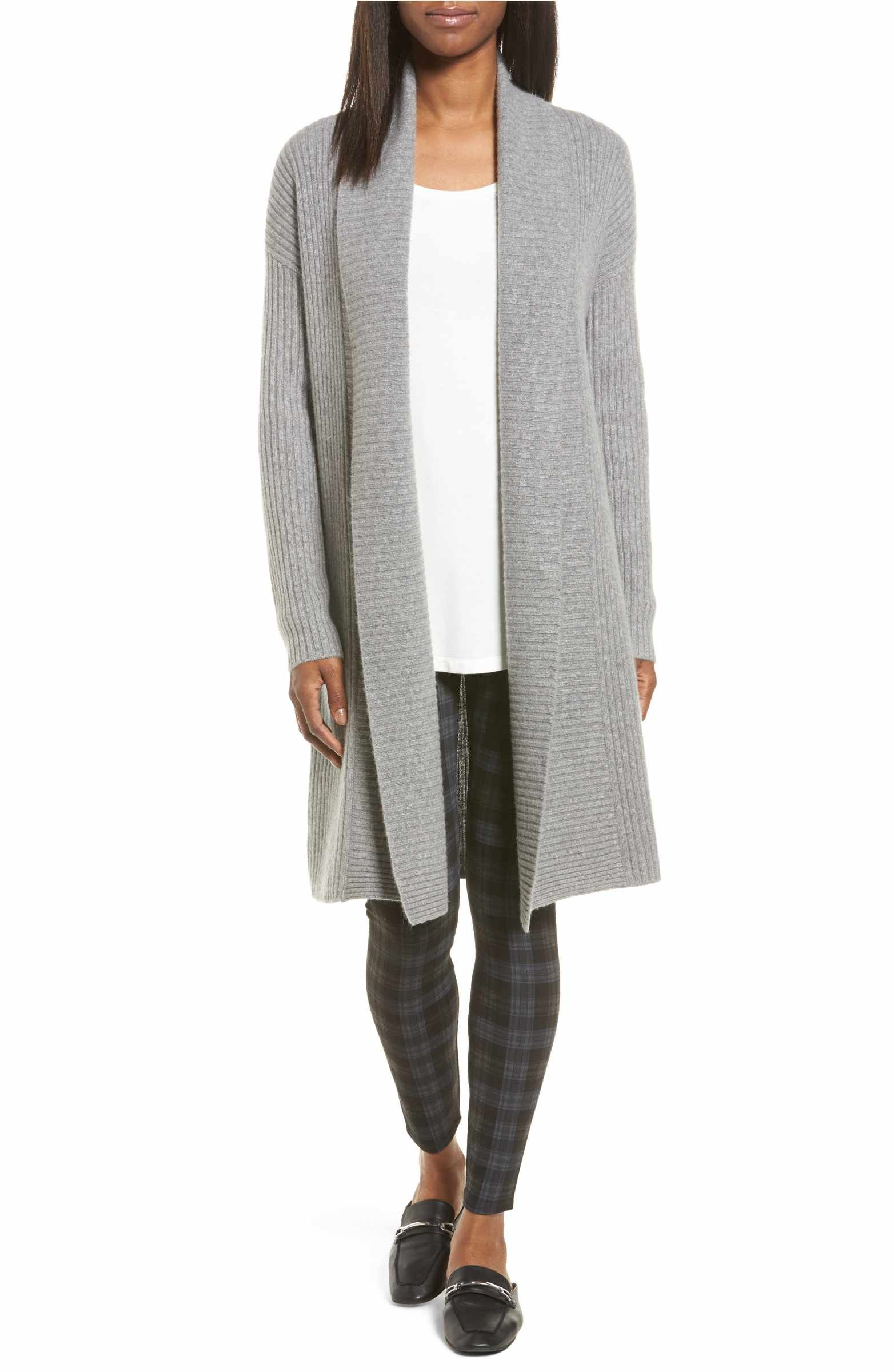 Long Ribbed Cashmere Cardigan | Cashmere, Nordstrom anniversary ...