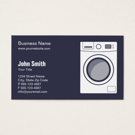 Laundromat Appliance Repair Service And Sale Business Card Zazzle Com Appliance Repair Laundry Company Laundry Business