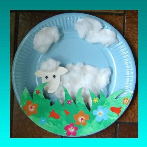 Paper plate lamb art & Paper plate lamb art | Arts and crafts | Pinterest | Spring Lambs ...