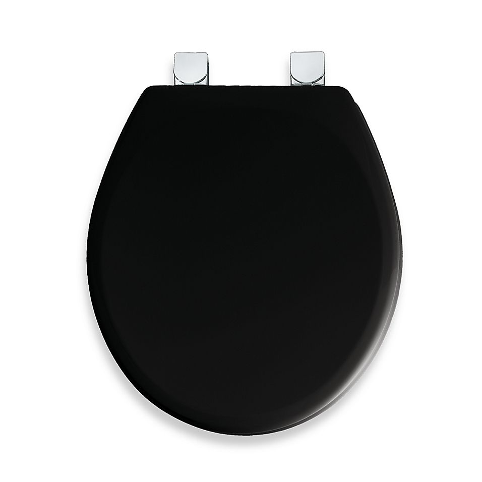 Mayfair Easy Clean Change Wide Round Toilet Seat In Black