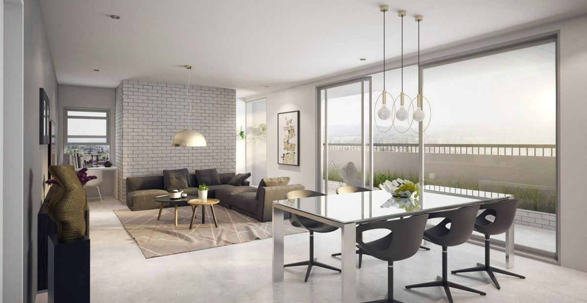 Brick Wall Dining Room  Google Search  Scandinavian  Pinterest Prepossessing Open Concept Living Room Dining Room And Kitchen Review
