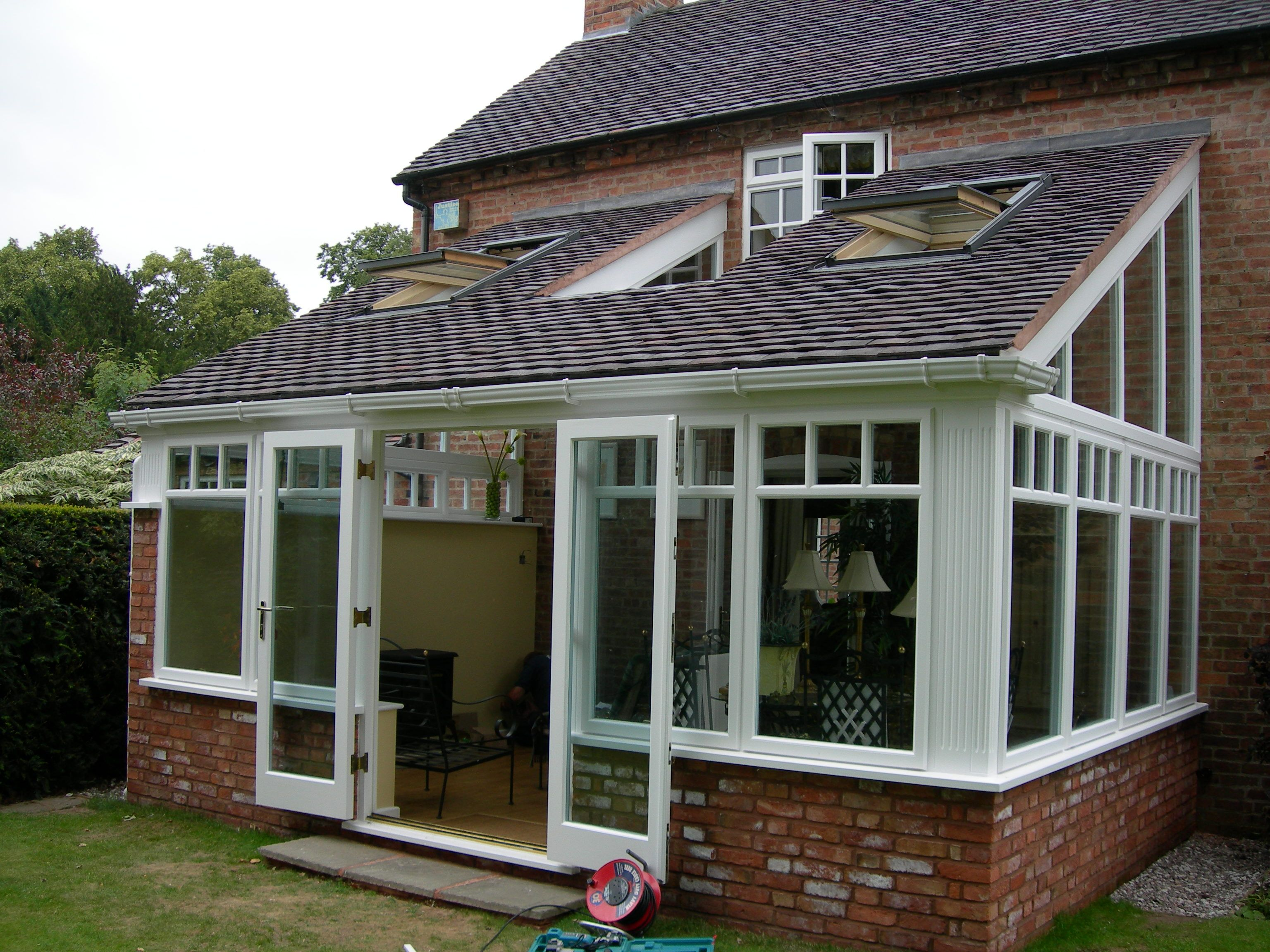 tiled roof hardwood conservatory