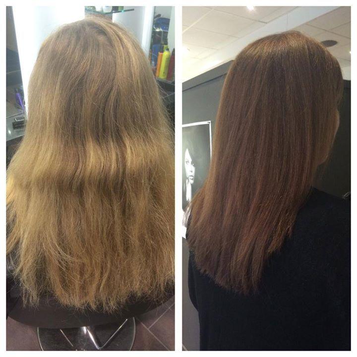 färga blonderat hår ljusbrunt