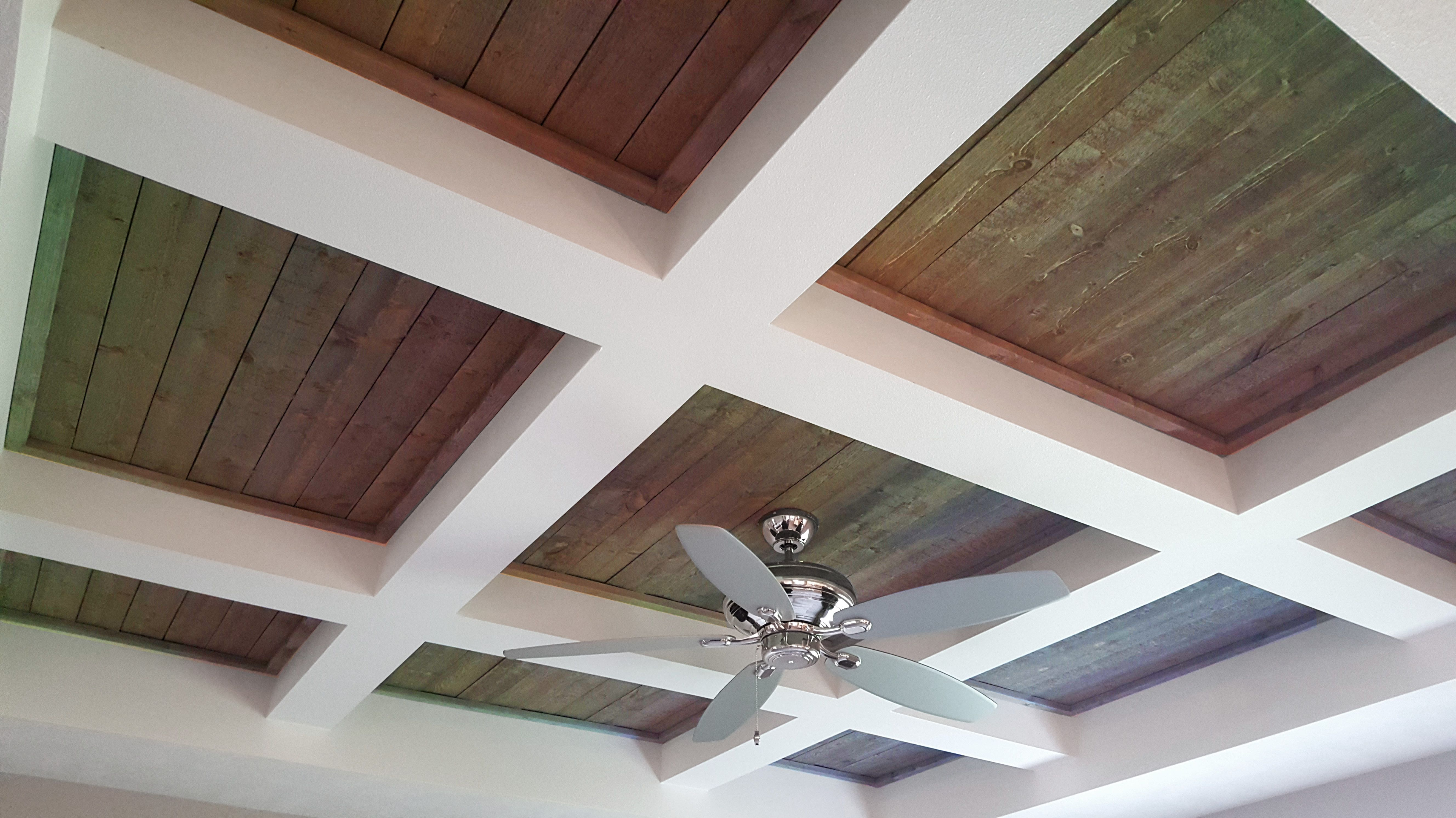 Coffered Ceiling With Shiplap Shiplap Ceiling Coffered Ceiling