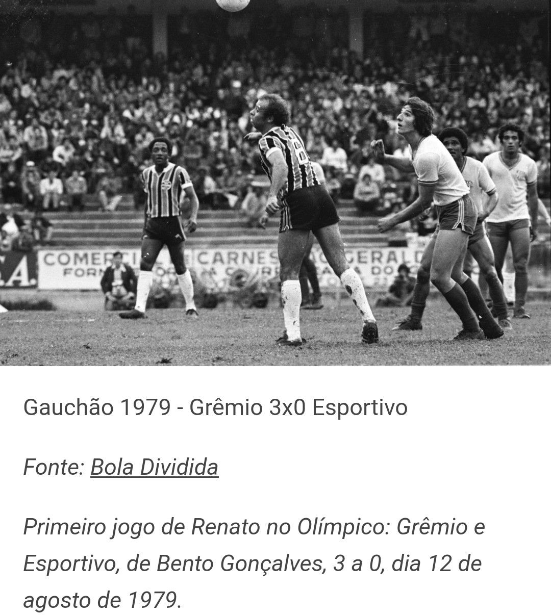 Renato Portaluppi No Esportivo Esportes Gremio Primeiro Jogo