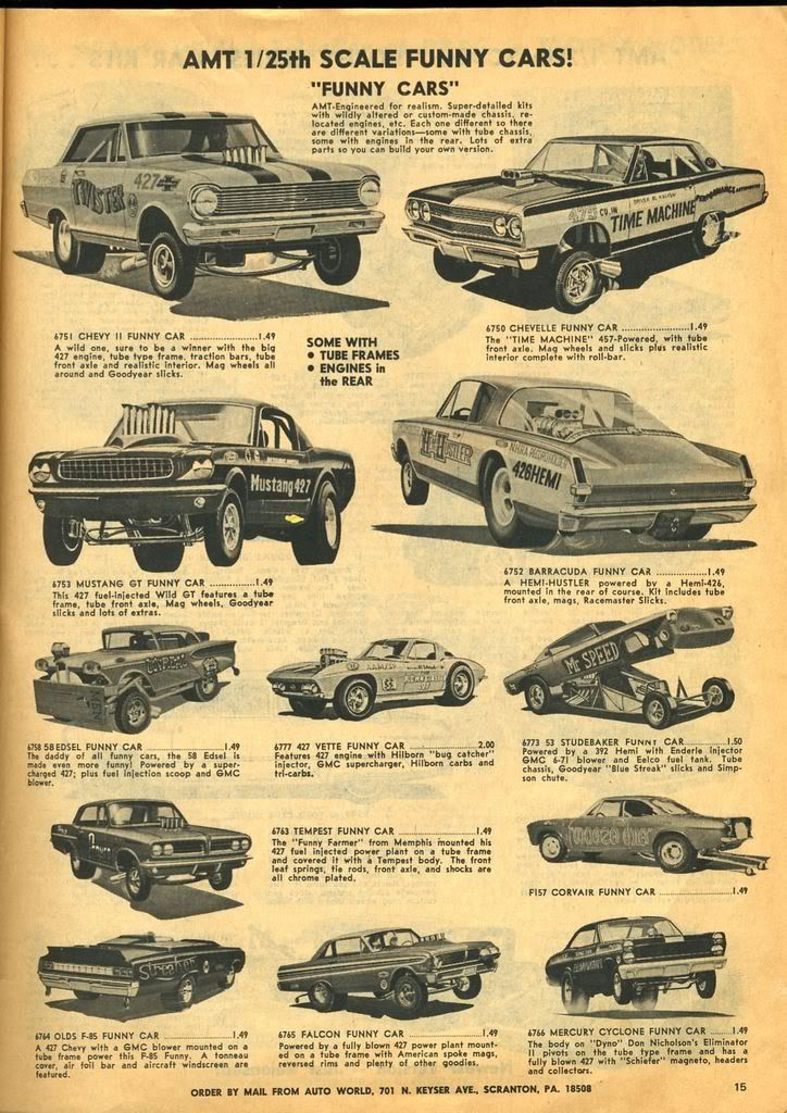 1965 - AMT 1/25 scale models | Scale Modeling | Model cars