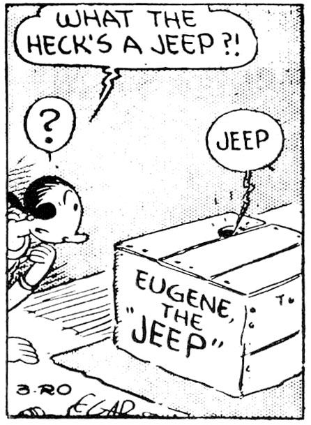 There S Only One Jeep Eugene The Jeep Jeep Popeye The Sailor Man